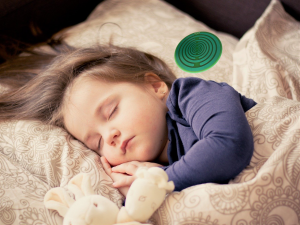 child sleeping with disc